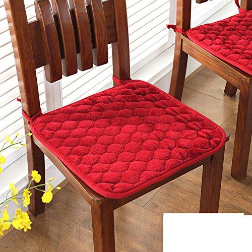 Winter dickes polster stuhl polster computer büro esszimmer stuhl kissen-E 40x40cm(16x16inch) (Stuhl-kissen 16x16)