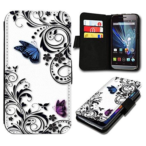 Book Style Huawei Ascend Y300 Premium PU-Leder Tasche Flip Brieftasche Handy Hülle mit Kartenfächer für Huawei Ascend Y300 - Design Flip SB816