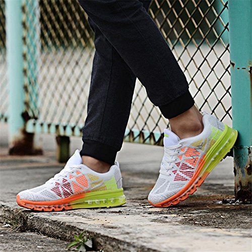 T-Gold Scarpe da Ginnastica Uomo Donna Scarpe da Corsa Sportive Running Fitness Sneakers Bianca