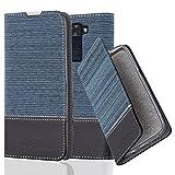 Cadorabo Custodia Libro per LG K8 2016 in Azzurro Scuro Nero – con Vani di Carte, Funzione Stand e Chiusura Magnetica – Portafoglio Cover Case Wallet Book Etui Protezione