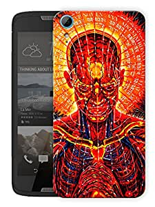 "Humor Gang Trippy Man Art Printed Designer Mobile Back Cover For ""HTC DESIRE 828"" (3D, Matte Finish, Premium Quality, Protective Snap On Slim Hard Phone Case, Multi Color)"