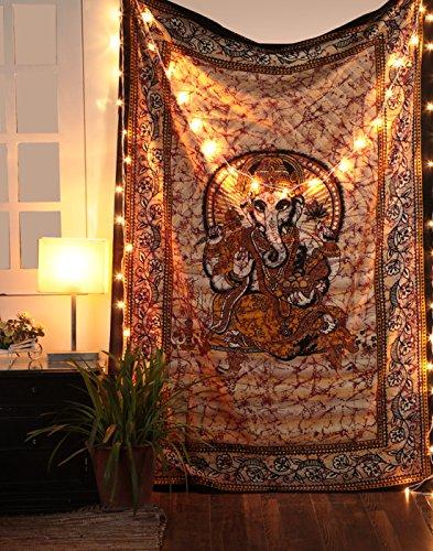 Rajrang hindu dio ganesha arazzi da parete etnico cotone hippie indiani mandala bohemien tapestry arazzi lord ganesh by