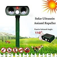 Bluelover GreatHouse ultrasonica energia solare gatto cane Repeller giardino esterno sensore infrarosso animale Scarer