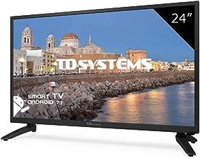 Fernseher LED 24 Zoll Full HD Smart TD Systems K24DLH8FS. Auflösung 1920 x 1080, HDMI, VGA, 2X USB, Smart TV.