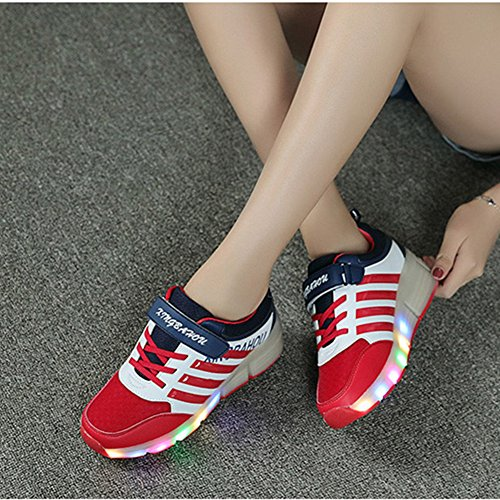 CICI New Kind Junior Girls Boys LED Light Sneakers Roller Skate Schuhe Für Kinder Kinder Turnschuhe mit Rädern Rot