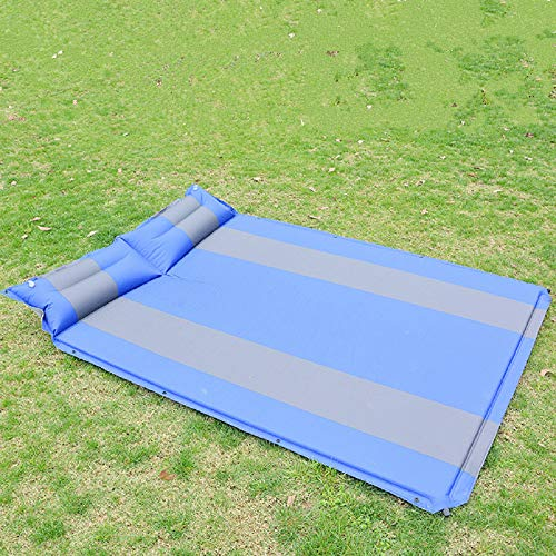feixiangge Anti-Feuchtigkeitsplitter, selbstaufbereitetes Kissen, eine Person, die eine Doppel-Reisekissen, EIN Picknick-Kissen, 192 * 132 * 2.5cm/Zwei, blau.