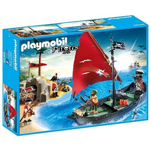 Playmobil  - Isla y barco