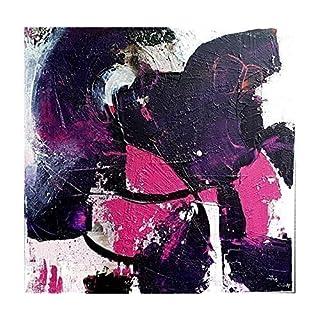 Acrylbild bunt und abstrakt gearbeitet mit Baustoffen 80x80x3,5 handgemalt Unikat