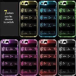 LOOVE(TM)LED Flash Light Rappelez entrante Coque TPU d'appel pour iPhone 5/5s