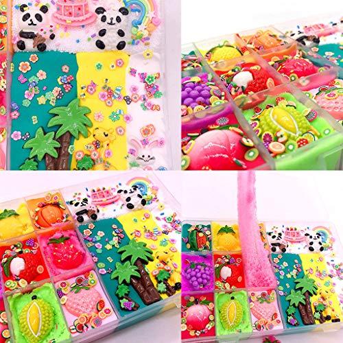 Dkinngs Fairy Putty Cloud Slime, Zuckerwatte Slime Supplies Stress Relief Toy Duftschlamm Spielzeug für Mädchen und Jungen, Fairy Putty Fluffy Ananas Cloud Slime, Fluffy Slime Spielzeug