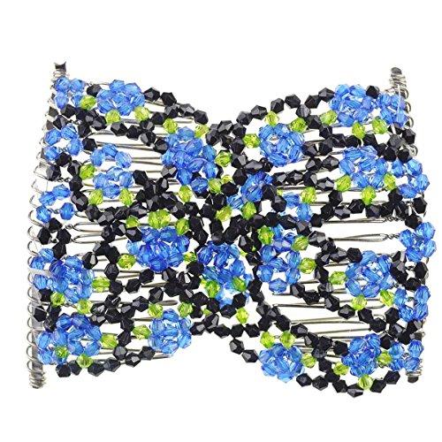Magic Beads Double peigne à cheveux pour femme avec sangle élastique - - taille unique