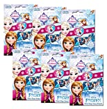 Craze 55138 - Mini Slap Snap Bands, Disney Frozen, 6 Foilbags, sortiert