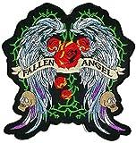 Grande taille Vert Fallen Angel Wing Veste T Shirt Patch coudre fer brodé sur badge Signe fantaisie