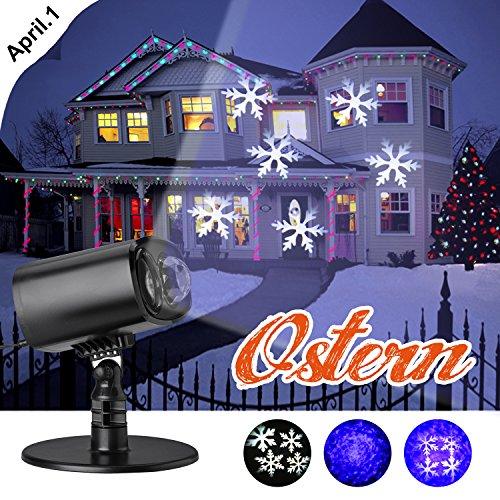 Proiettore Luci Natale Giardino.Led Proiettore Luci Natale Proiettore Fiocchi Di Neve Star