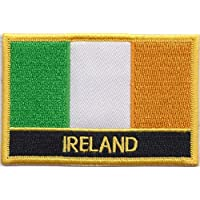 Ireland Flag Embroidered Rectangular Patch Badge / Sew On Or Iron On - Exclusive Design From 1000 Flags