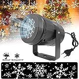 Baiwka Luci per Proiettore Natalizio Impermeabili, 360 Rotazione del Fiocco di Neve Proiettore di Natale Luci A LED Coperta per Halloween Compleanno Matrimonio Tema Festa A Casa Capodanno