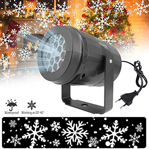 Volwco Copo Nieve LED Proyector Navidad Exterior,Luces