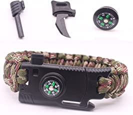 ThreeCat Military Outdoor Paracord Survival Bracelet 550 LB (Style A)
