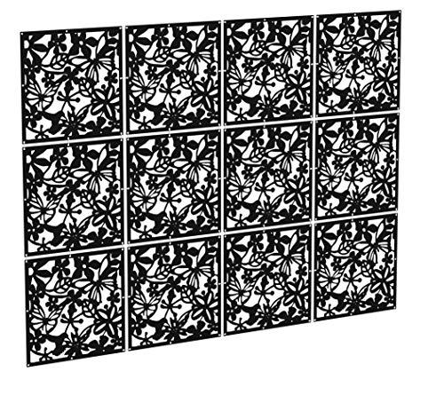 Kernorv Biombo de 12 Paneles, PVC Divisor habitación Separador separación Espacios divisoria...