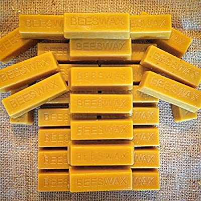 32 Pure Beeswax blocks - 100% pure and natural beeswax from LiveMoor
