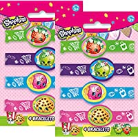 Shopkins Birthday Party Rubber Bracelets - Package of 8 by db creations