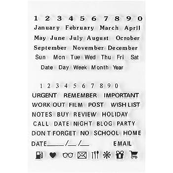 Transparent Klar Silikon Briefmarken Alphabet Buchstaben Zahlen