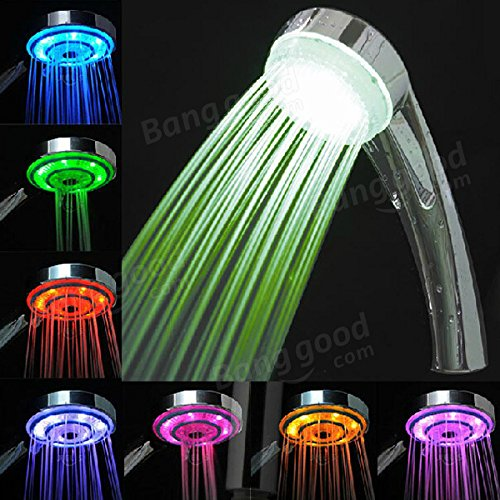 Bazaar LED 7Farben Zufällige wechseln Wasserkraftwerk Generation Dusche Head