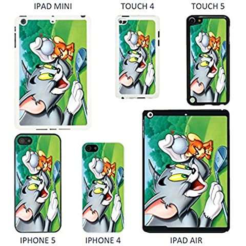 Vintage Tom And Jerry cartoon cover case for Apple iPad Mini - Black - T1016 - Golf