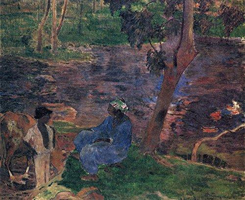 Das Museum Outlet-Pond Shore by Gauguin-Poster Print Online kaufen (76,2x 101,6cm)