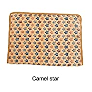 Etopfashion Couverture douce et chaude Littler Star Imprimé Pet blanket Puppy Kitten Bed Mat Cute Chaud Paw Print Pet Matelas