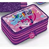 Astuccio 3 Zip Rosa My Little Pony