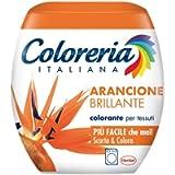 Coloreria Italiana Grey Colorante Tessuti e Vestiti in Lavatrice, Arancione Brillante, 1 Confezione