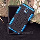 Galaxy Note 3 Funda, Cocomii Robot Armor NEW [Heavy Duty] Premium Belt Clip Holster Kickstand Shockproof Hard Bumper Shell [Military Defender] Full Body Dual Layer Rugged Cover Case Carcasa Samsung N9000 N9005 (Blue)