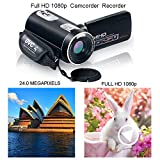 weton Digital Camcorder with IR Night Vision, Weton 1080P Full HD Digital Video Camera 24.0Mega Pixels 18X Digital Zoom Video Camera (Two Batteries included)