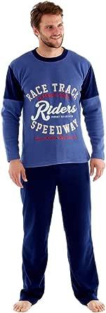 Men's Warm Polar Fleece Pyjama Sets, Thermal Loungewear
