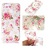 Samsung Galaxy S8 Plus Coque,Cozy Hut® Samsung Galaxy S8 Plus Case Cover Back Cover TPU Transparent Flex Cas Silicone Shock-Absorption Bumper et Anti-Scratch Effacer Skin Protection Arrière Premium pour Samsung Galaxy S8 Plus 6.2 pouces - Peony Floral