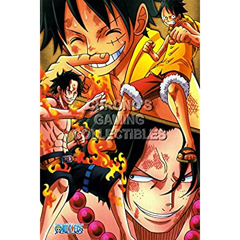 CGC enorme – Póster de One Piece anime Póster Wan P? Su – Luffy y Ace – one046, papel, 24