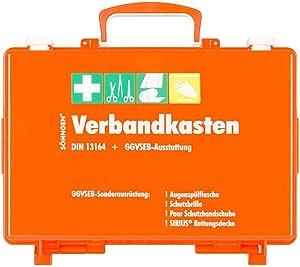 SÖhngen 0301012 Ggvseb Kfz Verbandkasten Sn Cd Orange Mit Din 13164 Ggvseb Ausrüstung Aus Kunststoff Mit PrÜfplakette Baumarkt