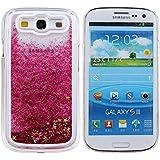 Voguecase® Para Samsung Galaxy S3 i9300,Líquido Dinámico Arena Movediza Stars Funda Carcasa Duro Tapa Case Cover (rosa) + Gratis aguja de la pantalla stylus universales