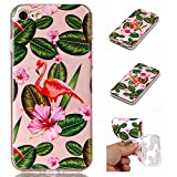 Coque Pour iphone 7,Coffeetreehouse Motif soft coloré de motif estampé transparent mince TPU Protecteur Case Pour iphone 7-Petites fleurs rouges