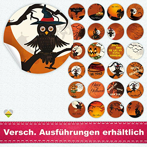 / Etiketten / Sticker | Halloween | Rund | Ø 40 mm | Bloody Orange | F00002-02 | CuteLove & Head-Beat (Halloween-beats)