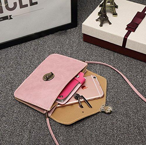 Modakeusu Classic busta in stile portafoglio piccolo telefono cellulare portafoglio borsetta con tracolla per le donne Black Black