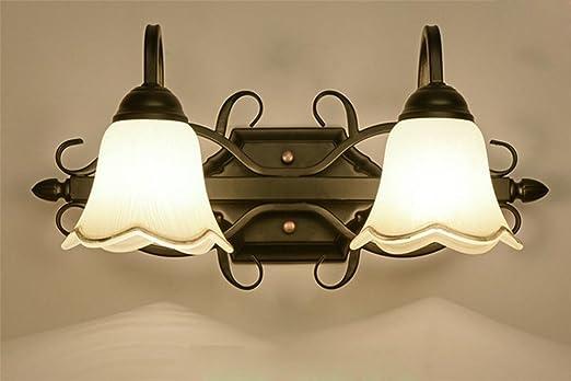 Spiegellampe Spiegelleuchte Im Landhausstil E14 Rustikal American ... | {Badlampen landhausstil 96}
