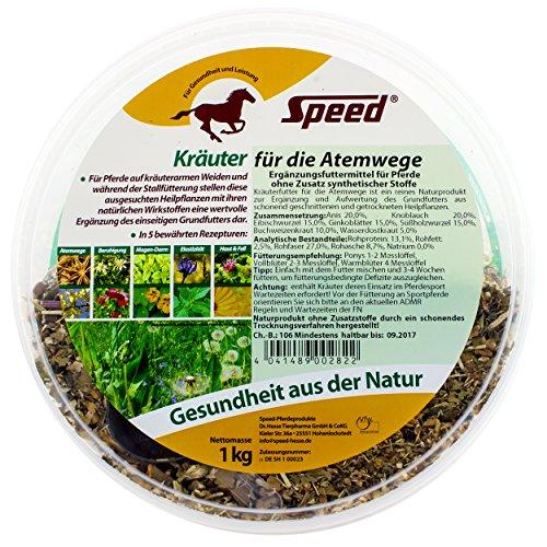 Speed Kräuter für die Atemwege – Pferdekräuter zur Förderung einer starken Infektabwehr der Atemwege Ihres Pferdes (1000 g)