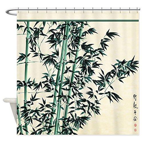 Lepo \'s Oriental Bambus Vorhang für die Dusche für Badezimmer Wasserdicht, Polyester, weiß, 60W*70H inch