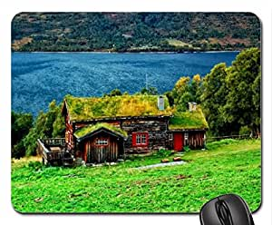 Lake cottage Mouse Pad, Mousepad (Lakes Mouse Pad)