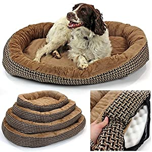 Deluxe-Orthopaedic-Soft-Dog-Bed-Pet-Warm-Basket-Fleece-Lining-Cushion-Puppy-Cat