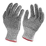 Nuovoware Schnittschutzhandschuhe, Hochleistung Schnittschutz Handschuhe Lebensmittelecht 5 Ebene Handschutz für Haus & Küche Arbeitssicherheit, EN388 Certified, 1 Paar(Medium Size)
