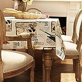 CWJ Tischdecke-Englischsprachige Zeitung Tischdecke Tischdecke Tischdecke Couchtisch Abdeckung Handtuch,B, 140x180cm (55x71inch)