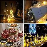 Modaworld 6 Stck Weinflaschen String Lights Micro Kupferdraht Lichterkette Batterie Nachtlicht Lampe Schlafzimmer Cafe Dekoration, 2M